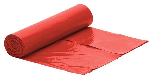 Worek czerwony na śmieci LDPE 35 L/rolka 50 szt