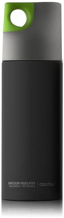 Butelka termiczna / bidon Le Canale 470 ml Asobu - black / lime - black/lime