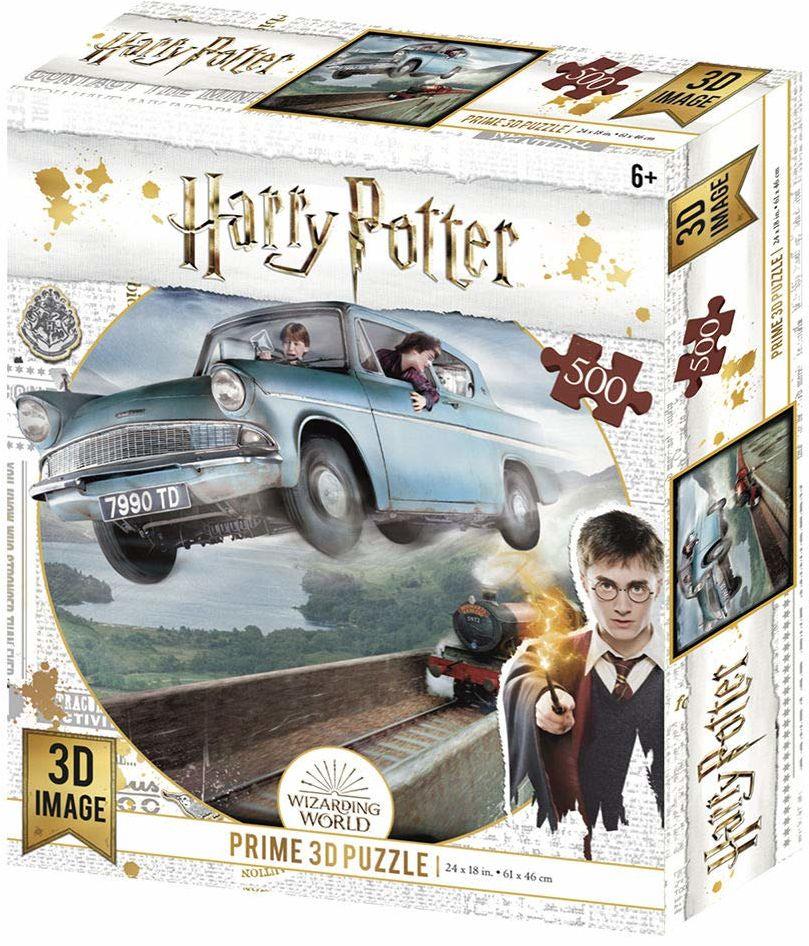 Prime 3d Lenticular H Redstring - puzzle lentikularne Harry Potter Ford Anglia 500 części (efekt 3D)