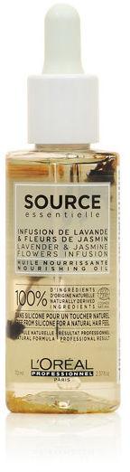 Loreal Source Essentielle Lavender & Jasmine Flowers Infusion Nourishing Oil Olejek do włosów suchych i uwrażliwionych 70 ml