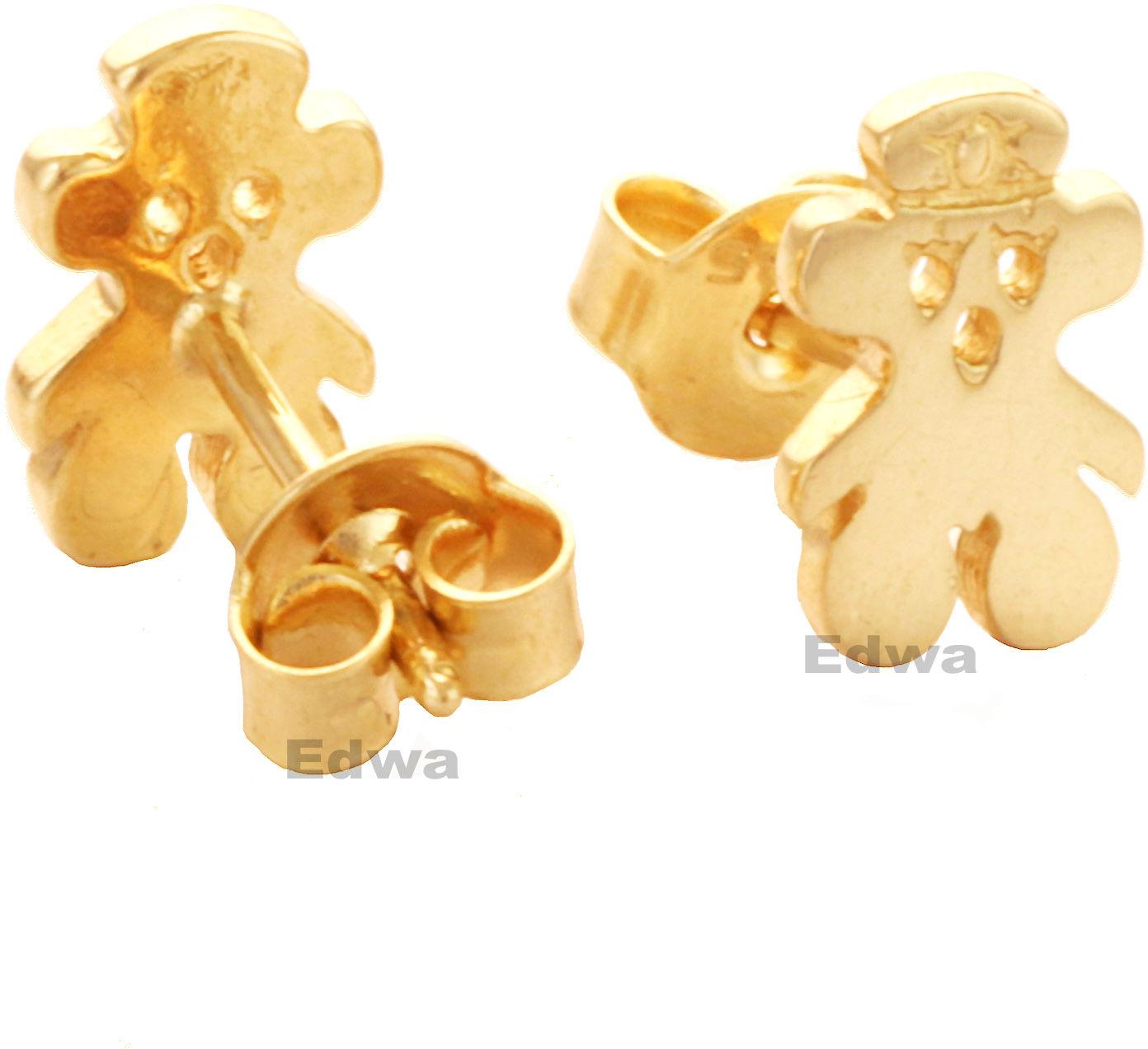 Kolczyki złote Misie pr.585