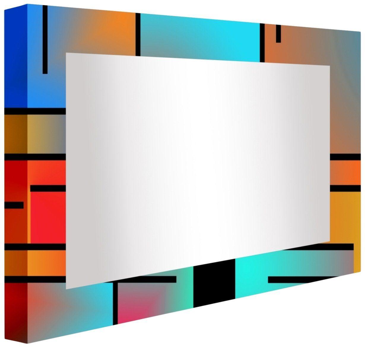 ccretroiluminados wiersze retro kolorowe lustro łazienkowe podświetlane, akryl, wielobarwne, 80 x 5,3 x 60 cm