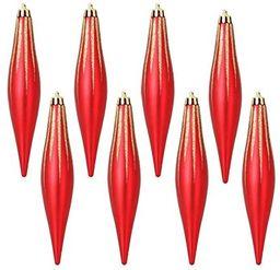 Kostki lodu z tworzywa sztucznego, czerwone, 5 x 5 x 15 cm