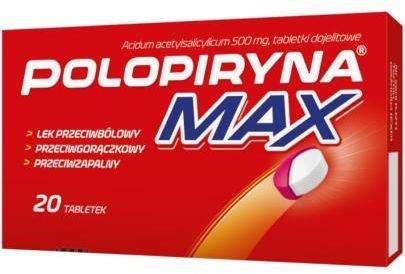 Polopiryna Max 500mg 20 tabletek