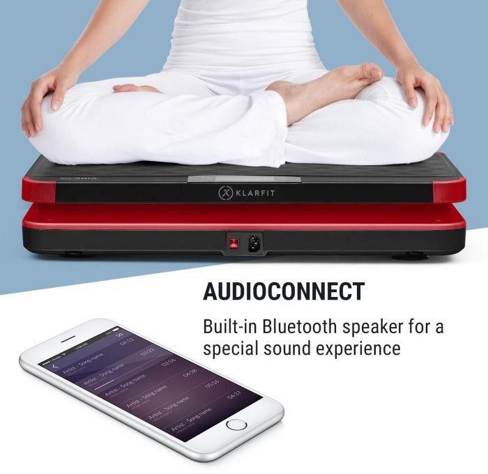 KLARFIT Vibe VX Płyta wibracyjna, 200 W, 3 programy, AudioConnect, kolor czarny