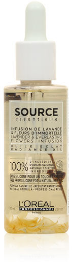 Loreal Source Essentielle Lavender & Everlasting Flowers Infusion Radiance Oil Olejek do włosów farbowanych 70 ml