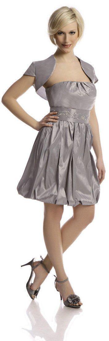 Sukienka FSU173 SZARY JASNY