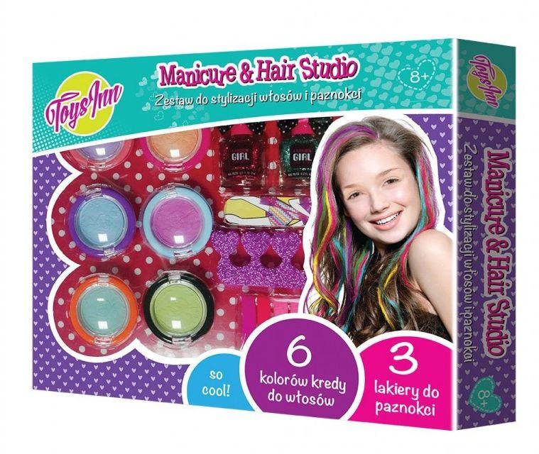 Kreda do włosów w sztyfcie 6 kolorów + akcesoria