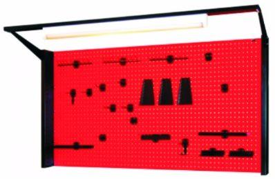 N-4-11-04 Tablica na narzędzia z samą kratownicą z oświetleniem