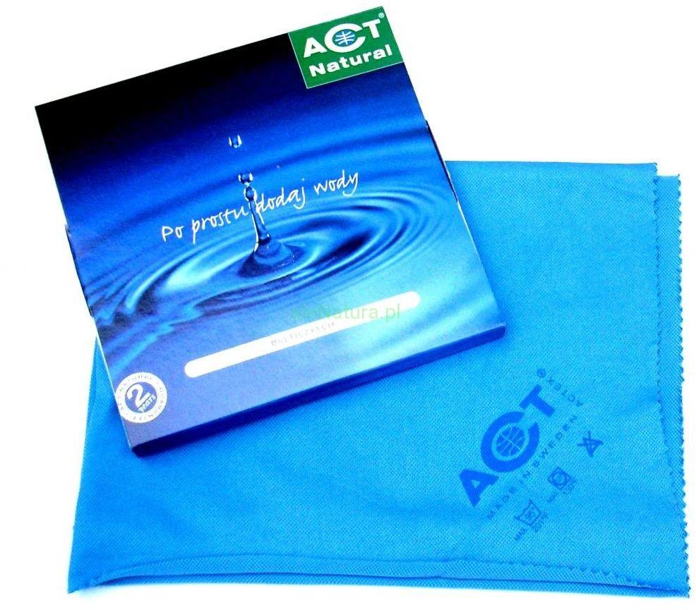 ACT NATURAL czyścik niebieski - ściereczka do mycia szyb 40x50cm