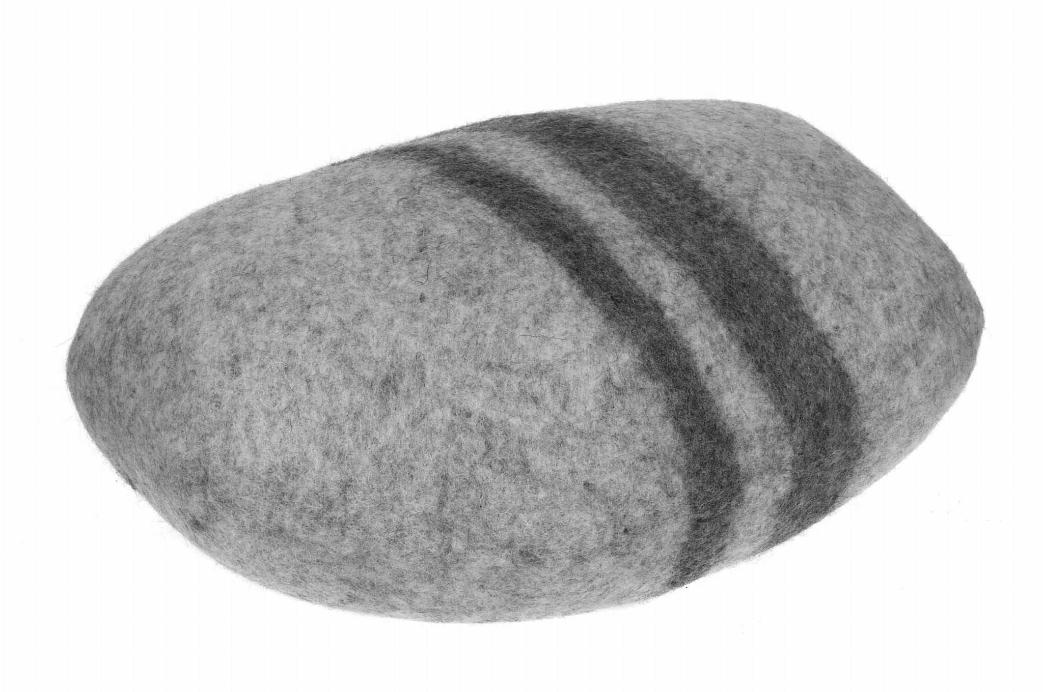 Pufa wełniana ozdobna Kamień Biały duży