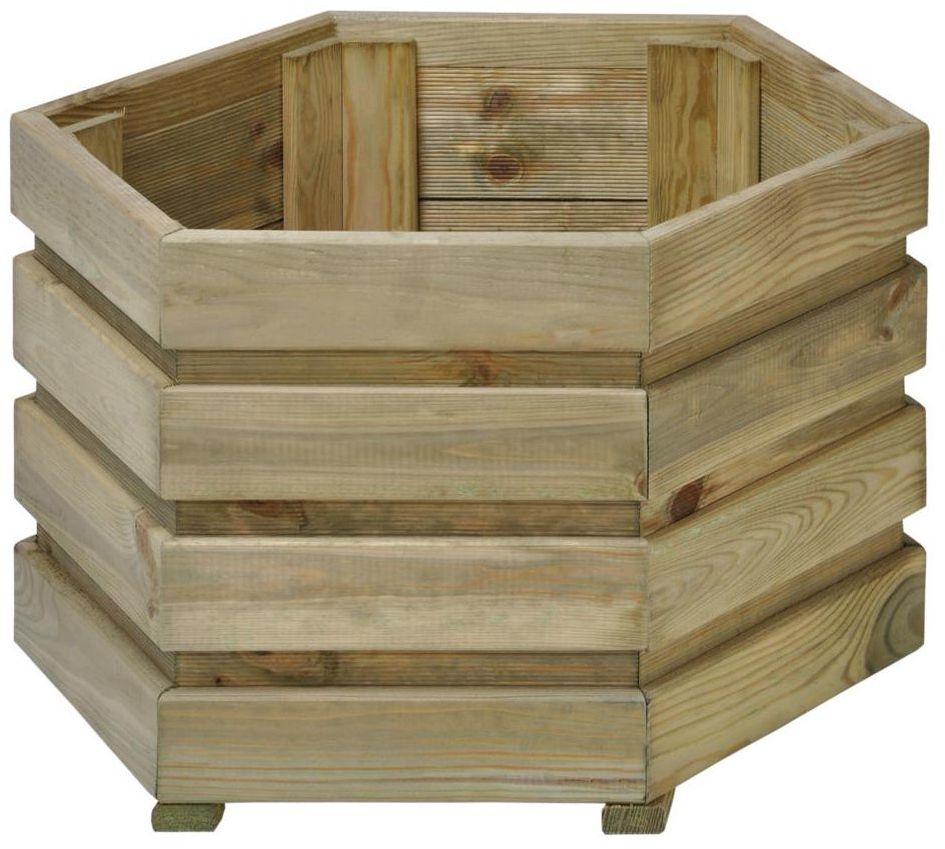 Donica ogrodowa 60 x 60 cm drewniana FIX SOBEX