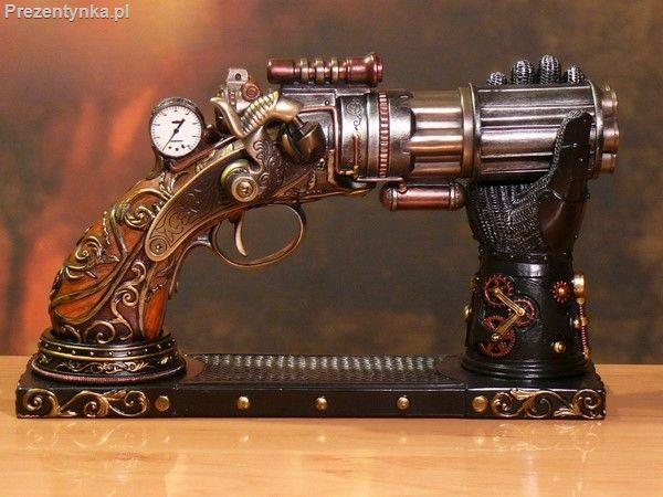 Pistolet Rewolwer Steampunk