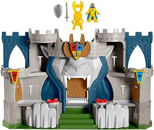 Fisher-Price Imaginext The Lion''S Kingdom zamek średniowieczny tematyczny zestaw zabaw z figurkami dla dzieci w wieku od 3 do 8 lat