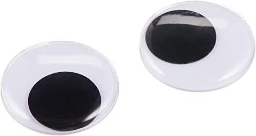 Darice Ruchome oczy do naklejenia, 25 mm, czarne, 2 sztuki