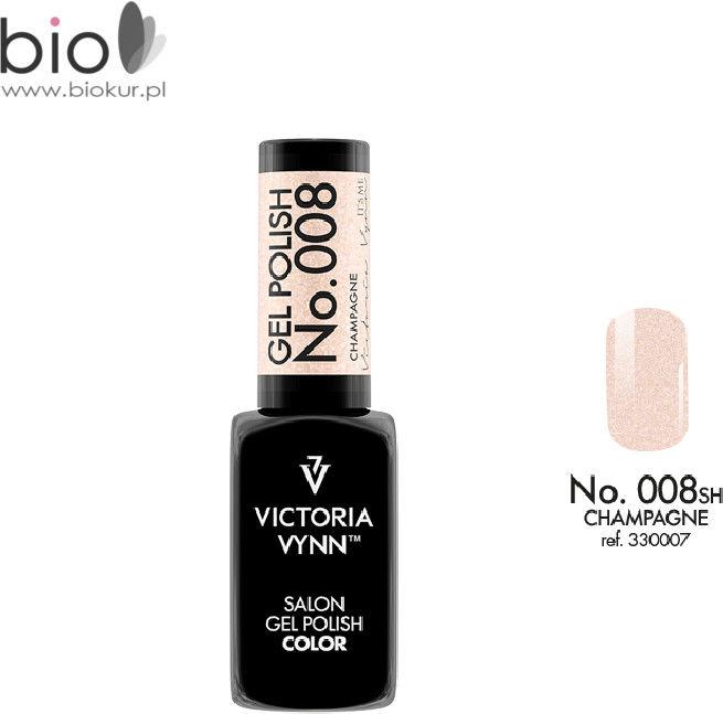Lakier hybrydowy GEL POLISH COLOR Champagne nr 008 VICTORIA VYNN - 8 ml