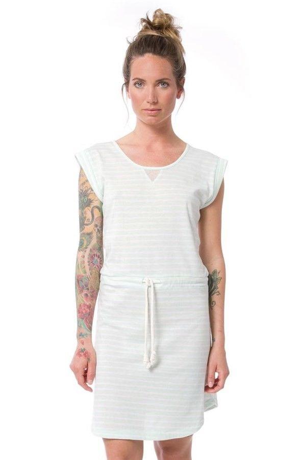 sukienka NIKITA - Dalvik Dusty Aqua Stripe (DAS)