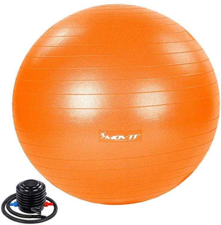 MOVIT Piłka gimnastyczna z pompką, 55 cm, pomarańczowa
