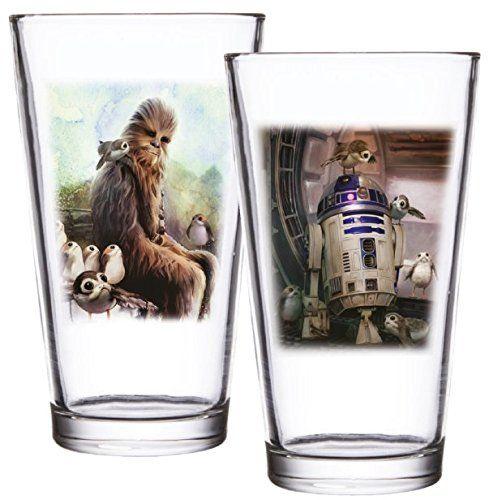 Gwiezdne Wojny EPVIII: The Last Jedi: Szklanka do kurzenia: Zestaw 2: Scena ptaków wyspowych, złoto, 9 x 9 x 14,5 cm