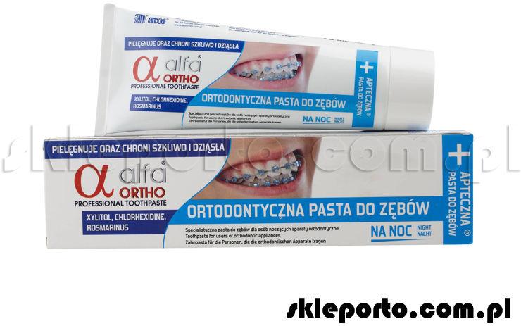 Alfa Ortho Noc pasta ortodontyczna 75 ml - asortyment ortodontyczny