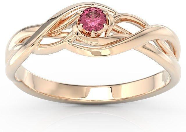 Pierścionek z różowego złota z rubinem bp-72p-rub