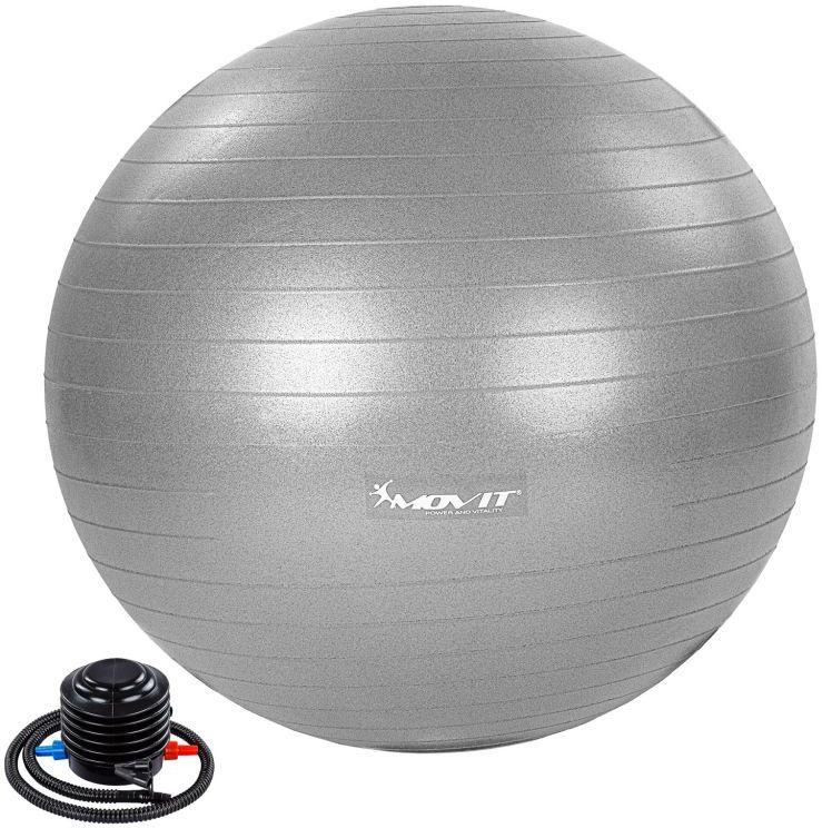 MOVIT Piłka gimnastyczna z pompką, 55 cm, szara