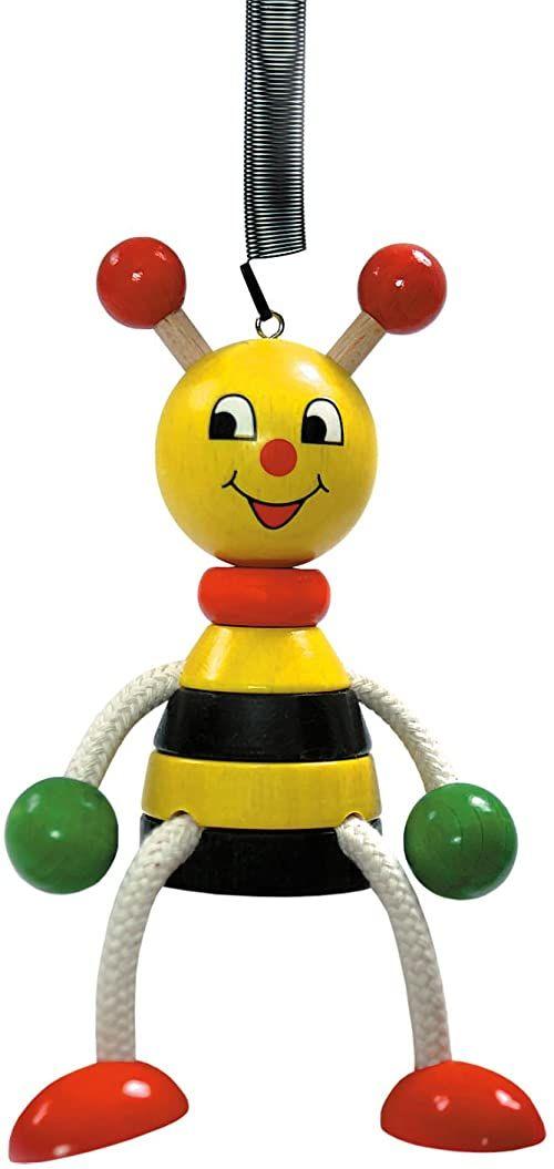 Hess 14703 drewniana pszczoła huśtawka figurka zabawka dla dzieci, 11 cm, wielokolorowa