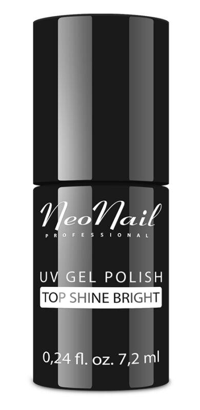 NeoNail - UV GEL POLISH - TOP SHINE BRIGHT - Błyszczący, nawierzchniowy lakier do hybryd bez przemywania - 7,2 ml