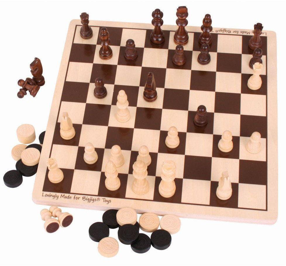 Szachy i Warcaby - zestaw gier Bigjigs