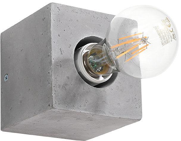 Kwadratowy kinkiet betonowy loft - EX648-Abes