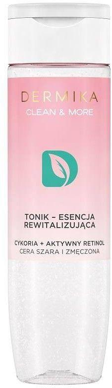 Clean & More tonik - esencja rewitalizująca do cery szarej i zmęczonej Cykoria & Aktywny Retinol 200ml