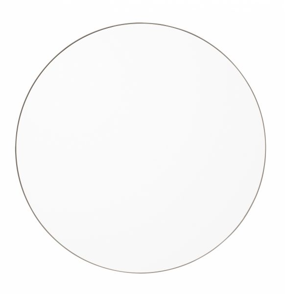 AYTM - CIRCUM Lustro Ścienne Okrągłe 90 cm Taupe - Tafla Klasyczna