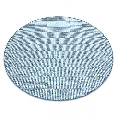 Dywan SZNURKOWY SIZAL LOFT 21198 koło BOHO kość słoniowa/srebrny/niebieski koło 120 cm