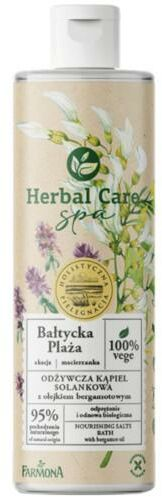 Farmona Herbal Care SPA odżywcza kąpiel solankowa Bałtycka plaża z olejkiem bergamotowym 400 ml
