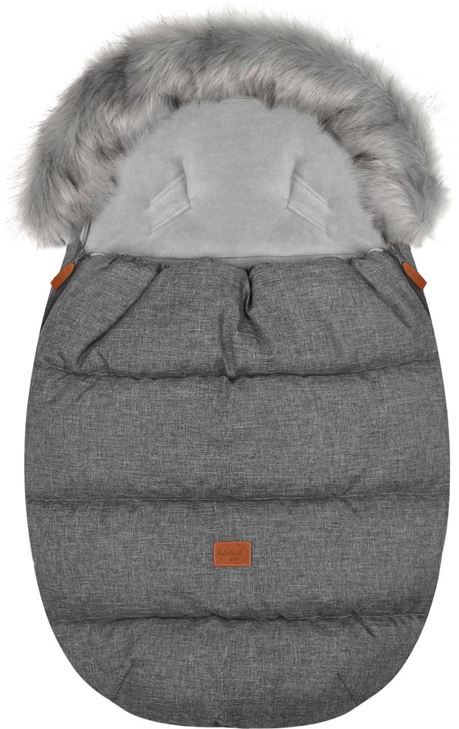 """Śpiworek do wózka z futerkiem do wózka spacerowego zimowy """"Eskimo Gray"""""""