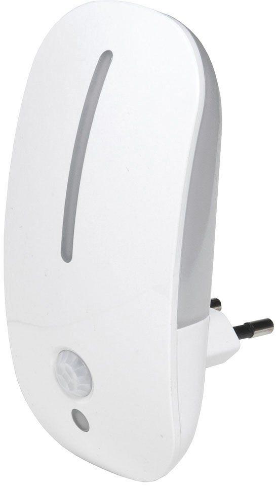 Airam Denver lampka nocna z czujnikiem zmierzchu i czujnikiem ruchu, 1,8 W, biała, 115 x 58 x 62 mm