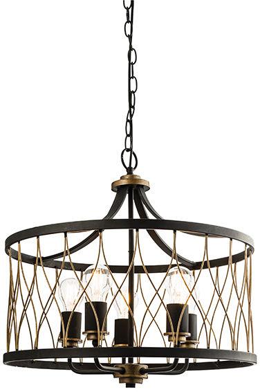Lampa wisząca Heston 61498 Endon czarna oprawa w stylu nowoczesnym