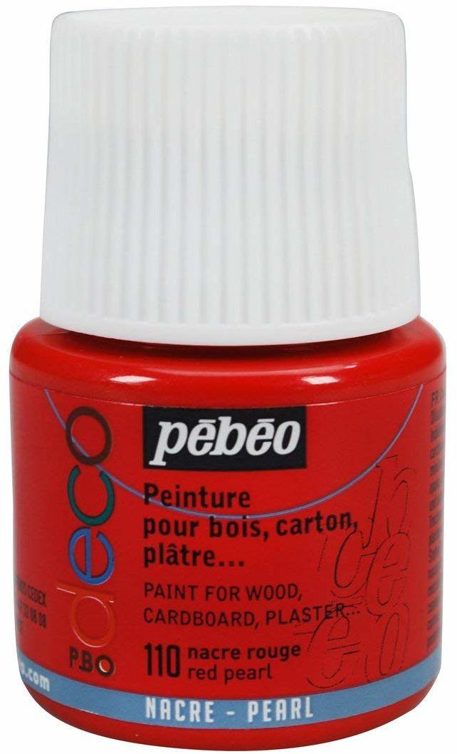 Pébéo 285110 farba akrylowa, matowa, 45 ml, perłowa czerwień, 1 butelka