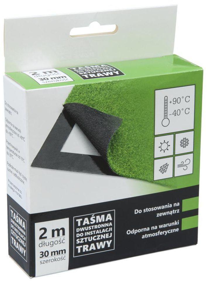 Dwustronna taśma klejąca do sztucznej trawy 30 mm x 2 m