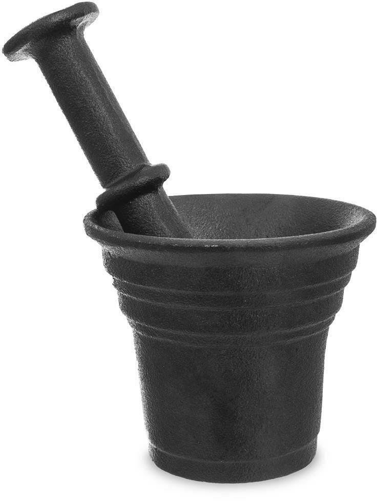Moździerz ŻELIWNY do przypraw czarny 10,5 cm