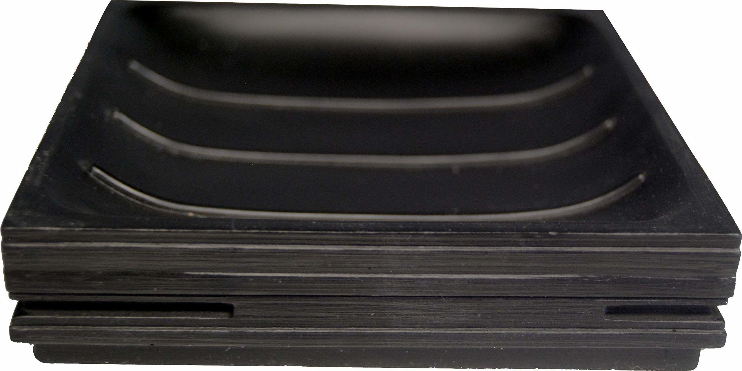 Grund BRICK mydelniczka 11,6 x 11,6 x 2,6 cm czarne akcesoria, 100% żywica poliestrowa, 6 x 11,6 x 2,6 cm