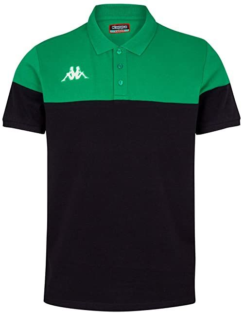 Kappa PIANETTI koszulka polo z krótkim rękawem, męska, czarny/zielony, S