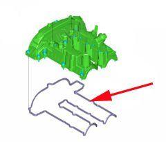 uszczelka pokrywy głowicy/zaworów Ford 1.0 EcoBoost - zamiennik Reinz