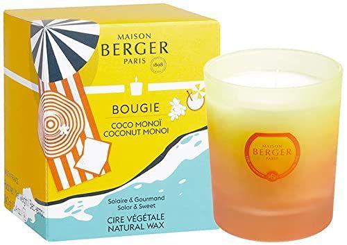 Lampe Berger Blissful świeca zapachowa, szkło, biały/pomarańczowy/żółty, 7 cm