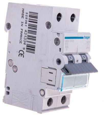 Wyłącznik nadprądowy 1+N B 10A 6kA AC MBN510E