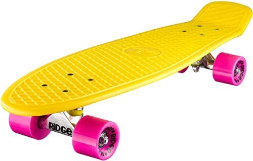 Ridge Deskorolka Big Brother nikiel 69 cm Mini Cruiser, żółty/różowy
