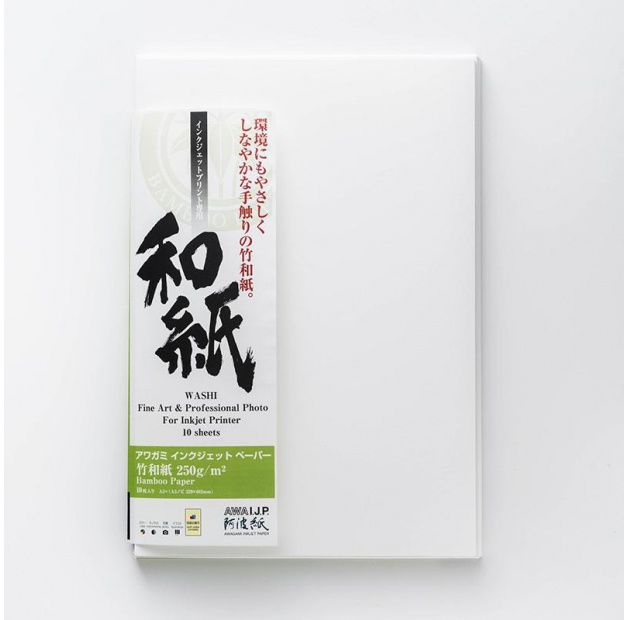 Papier AWAGAMI Bamboo 250 - A2, 10 arkuszy (IJ-1312)