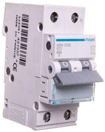 Wyłącznik nadprądowy 1+N B 20A 6kA AC MBN520E