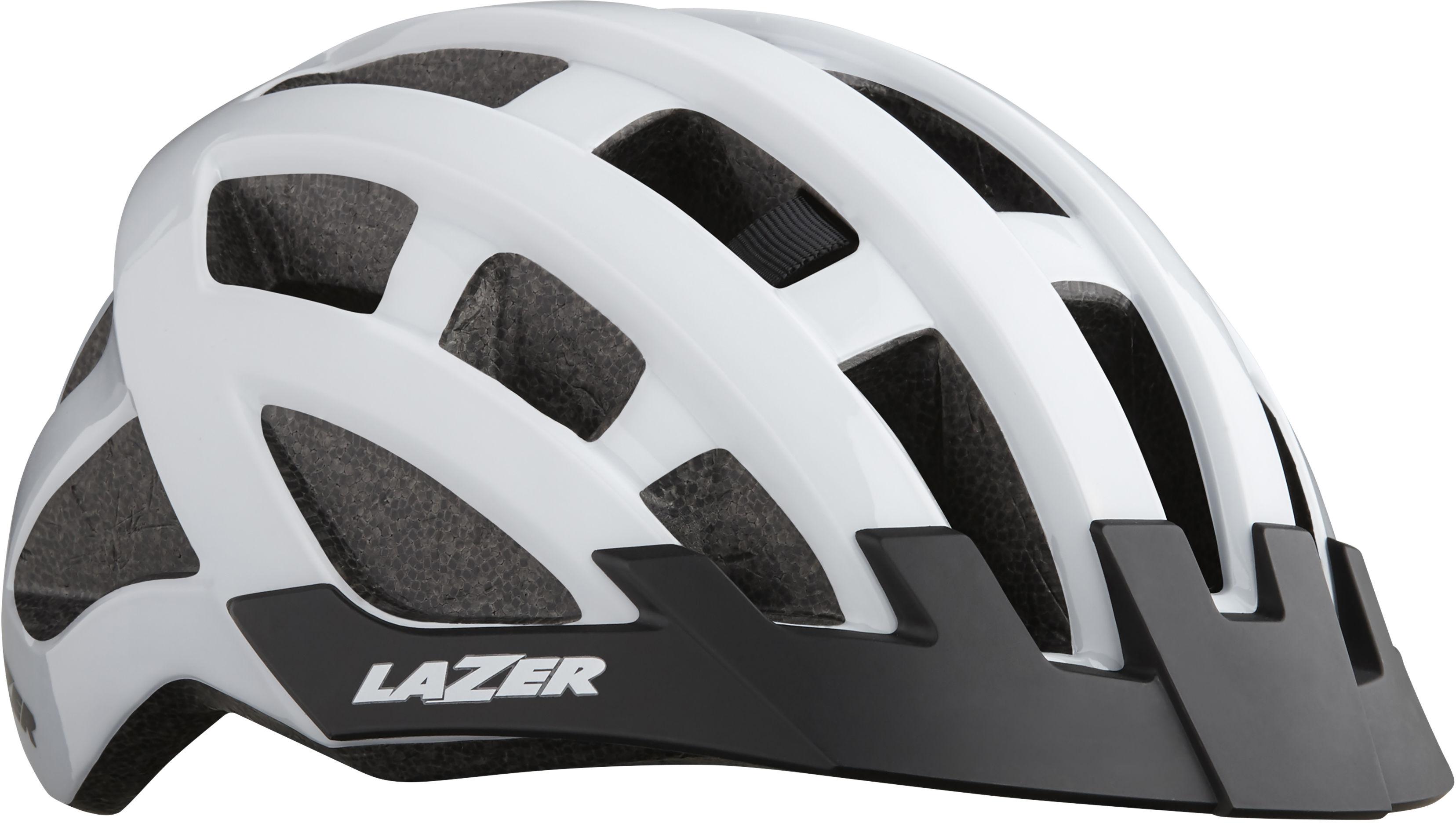 LAZER Compact kask rowerowy biały połysk Rozmiar: 54-61,5420078850027