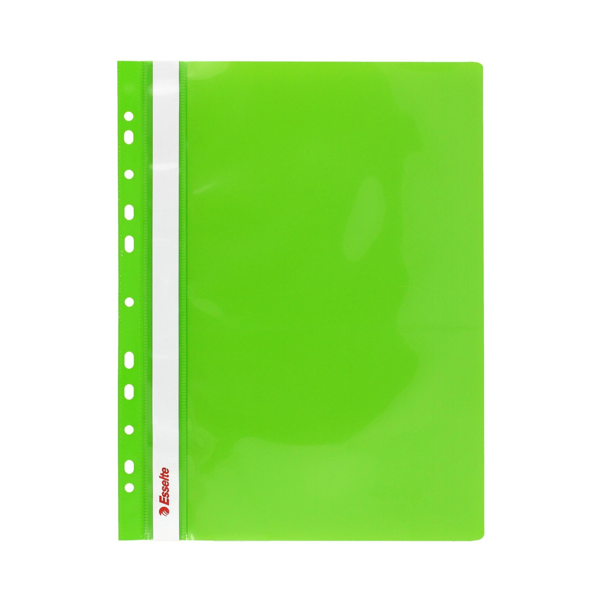 Skoroszyt wpinany zielony (10) Esselte